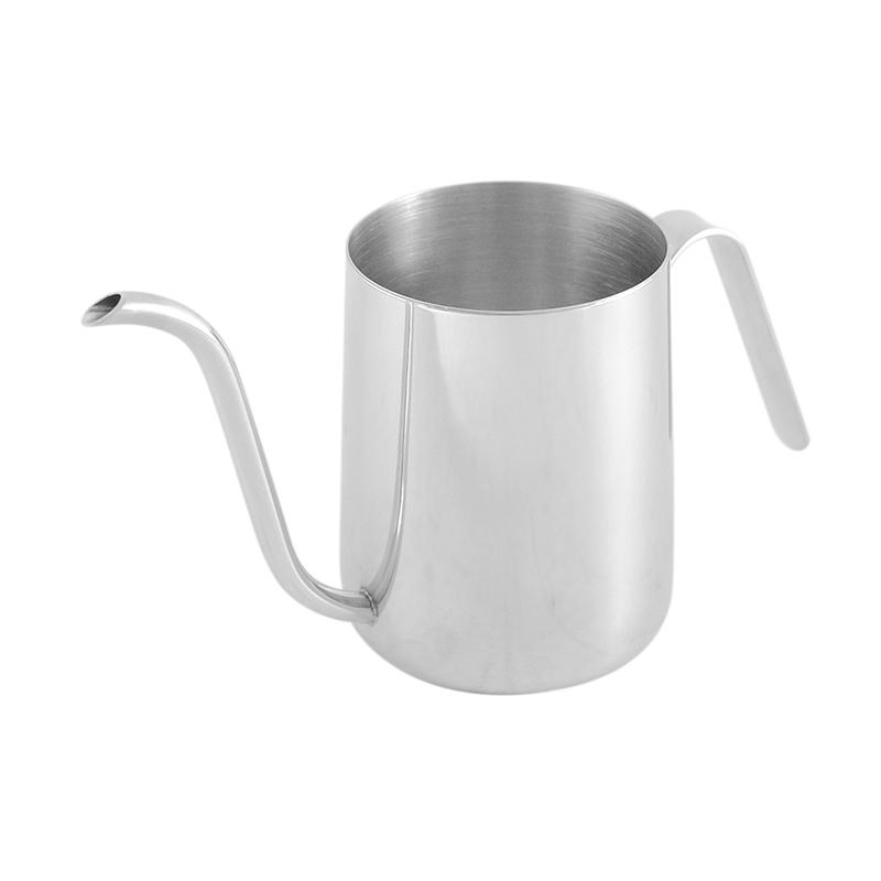 Worcas Mini Kettle for Pour Over Leher Angsa Peralatan Memasak -  Silver [350 mL]