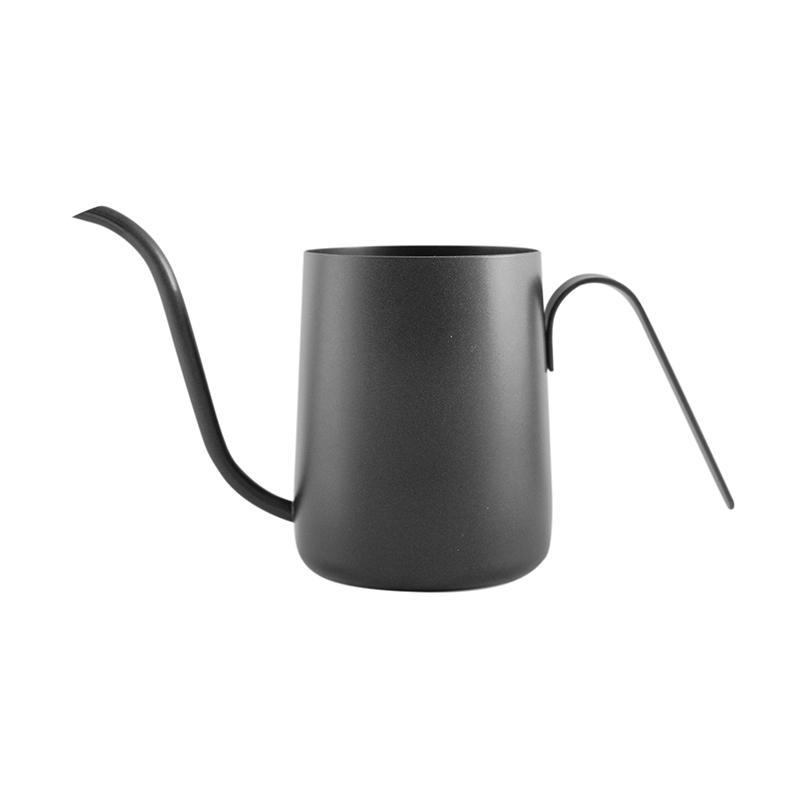 Worcas Leher Angsa Mini Teflon Kettle Kopi - Black [350 mL]