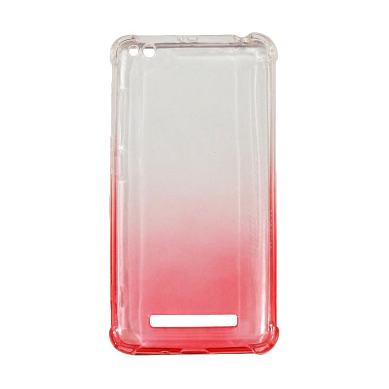 QCF BUY 1 GET 1 Softcase Anti Crack Anti Shock Warna Gradasi Casing for Xiaomi Redmi 4A Silikon / Case Unik - Red (Free Warna Random)
