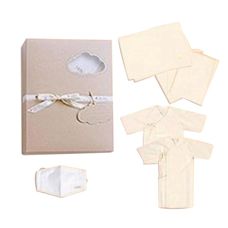 Azure Canvas Organic Cotton Set Newborn Gift Box