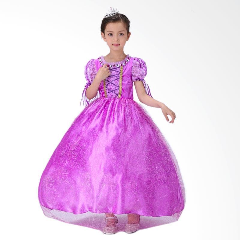 Jual Disney Baju Kostum Princess Rapunzel Dress Anak Gaun Pesta