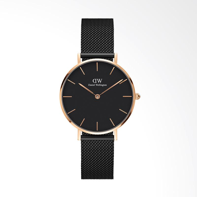 Daniel Wellington Classic Black Petite Ashfield Mesh Stainless Steel Jam Tangan Wanita - Rose Gold [32 mm]