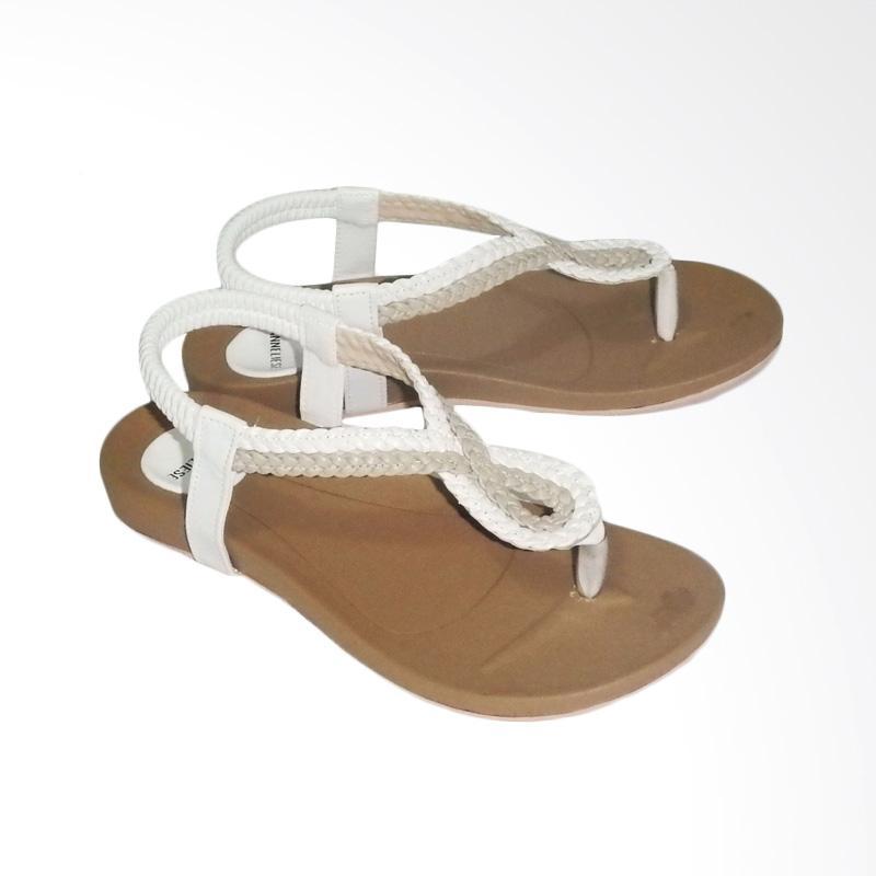 Anneliese ai 03 Sandal Flat Wanita - White