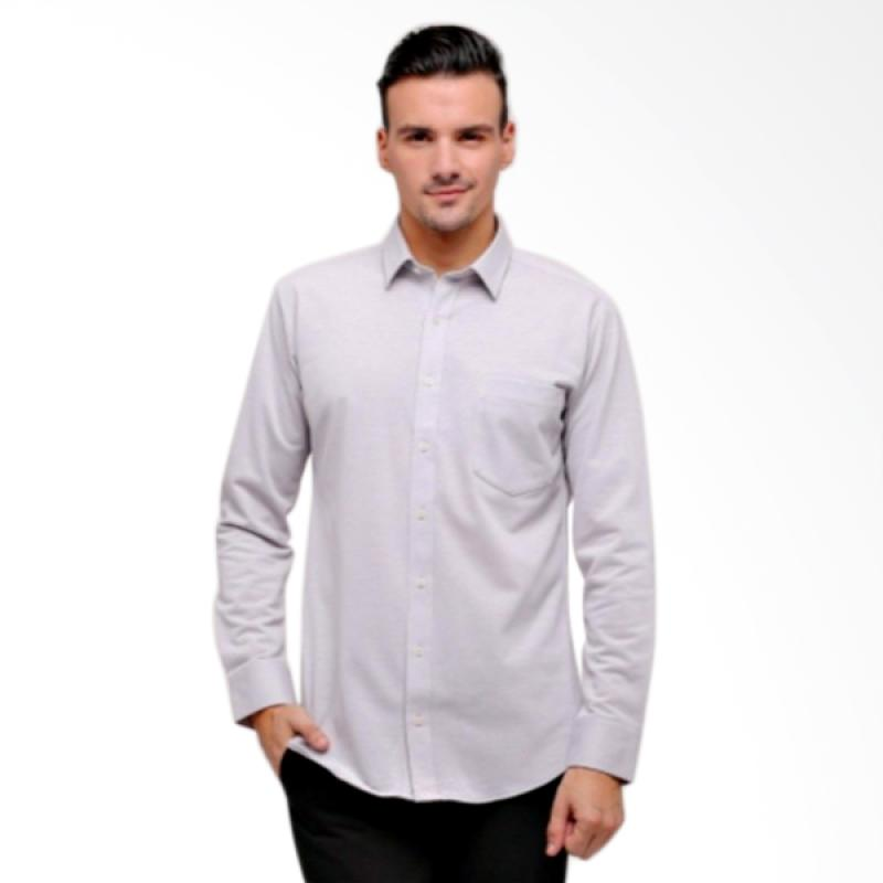 GT Man Long Sleeve Shirt Kemeja Pria - Grey [KGT002GY]