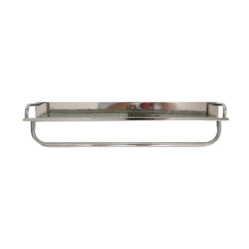 HAN 6041 Rak Stainless dengan Tiang Gantungan - Perak [60 cm]