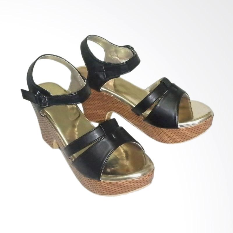 Anneliese DDN 02 Sandal Wedges Wanita - Black