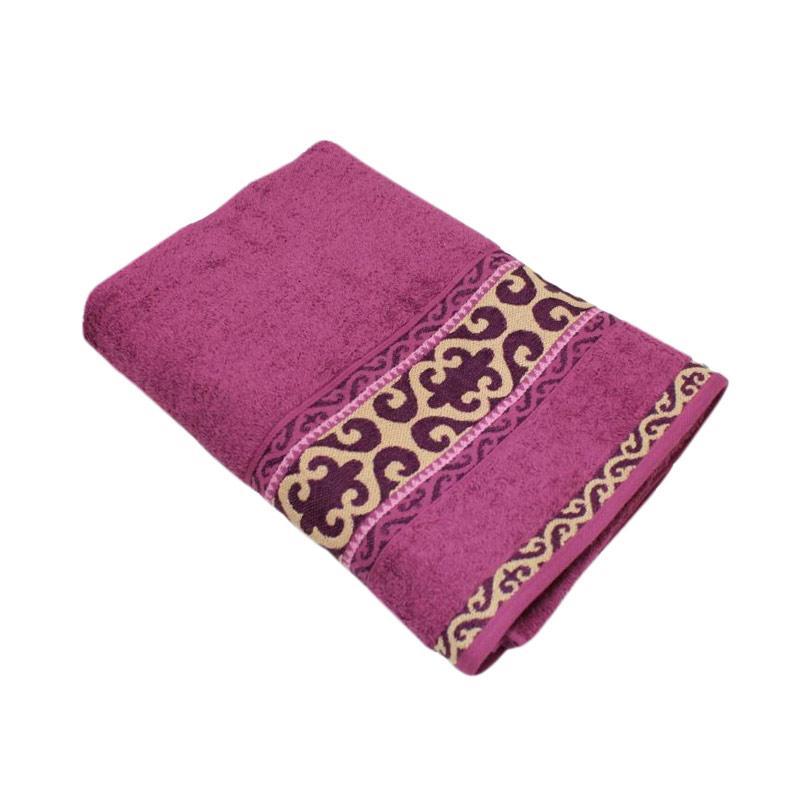 Terry Palmer Premium Motif Kyjal Handuk Mandi - Pink [70 x 140 cm]