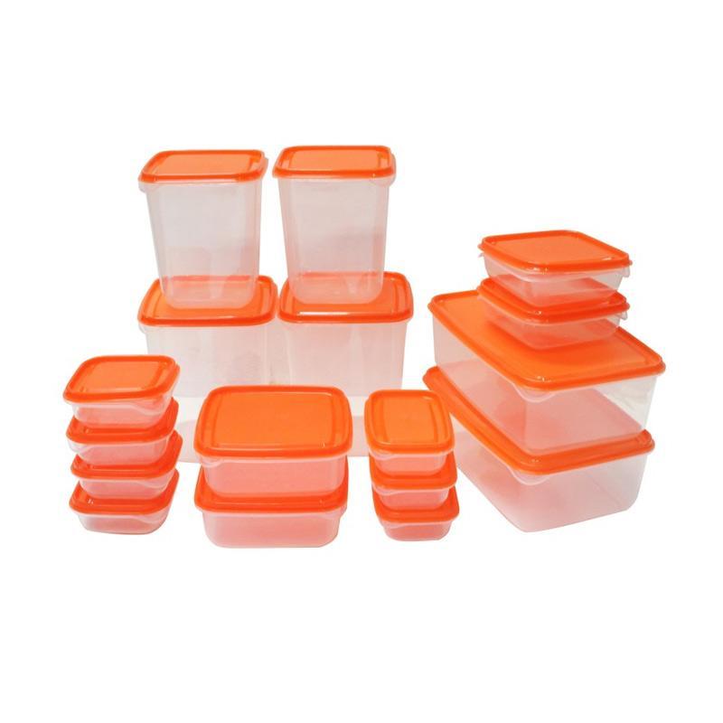 Ikea Pruta Food Container Set Peralatan Makan - Orange [17 pcs]