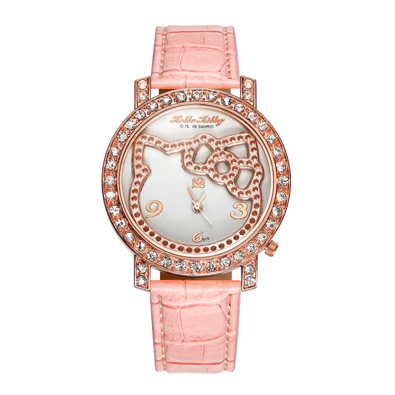 harga Hello Kitty WAT04154F Fashion Luxury Diamond Lady Cartoon Watch Jam Tangan Anak Perempuan - Pink Blibli.com