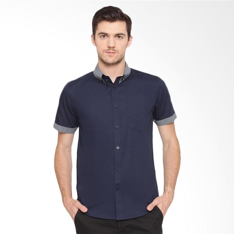 A&D Fashion Casual Kemeja Pria - Navy [Ms 949]