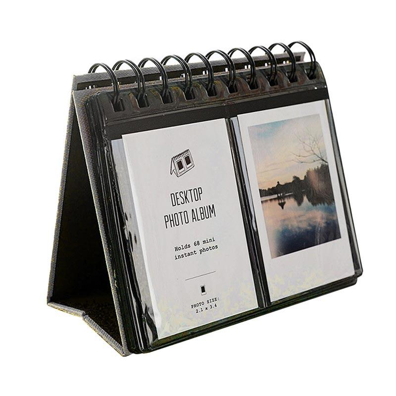 Caiul Album Kalender 68 Sheets for Fujifilm Instax Mini 8/9/25/50/70/90/Share SP-2 - Hitam