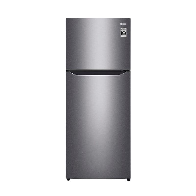 LG GNC272SLCN Small 2 Door Refrigerator Kulkas - Silver [254 L/2 Pintu]