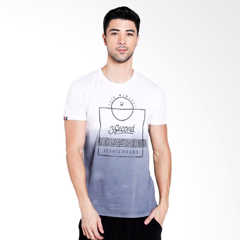 3SECOND Men 2712 T-Shirt Pria - White