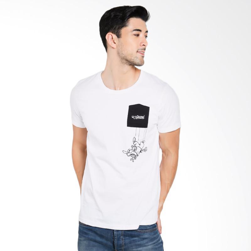 3SECOND Men 0112 T-Shirt Pria - White [T01121712]