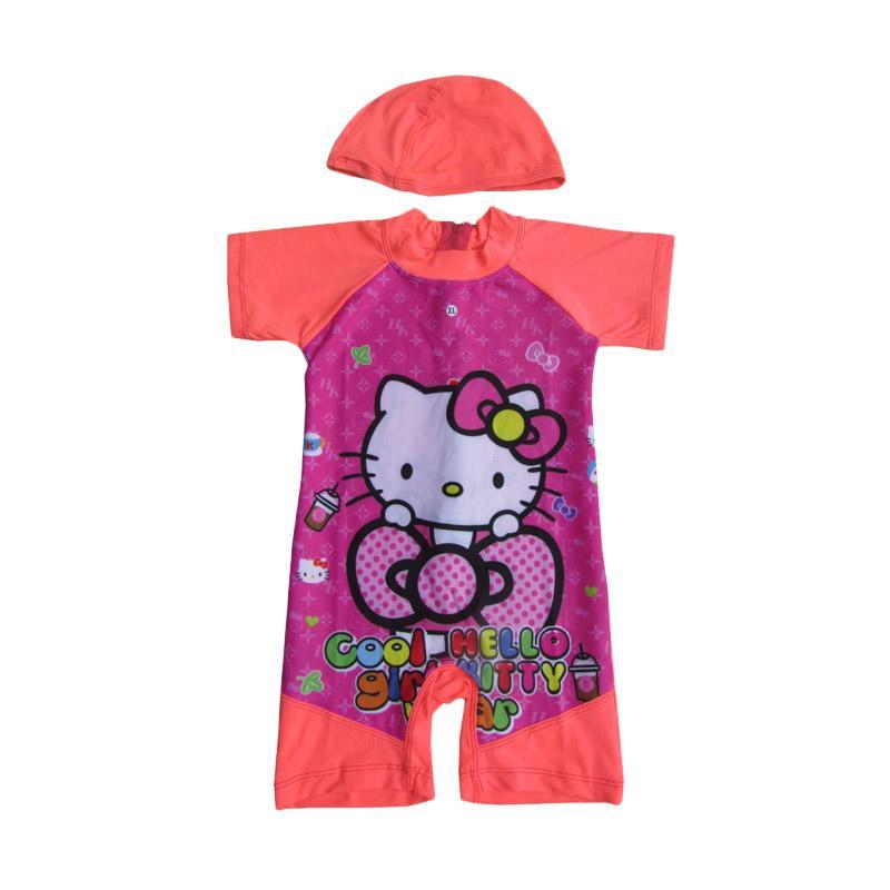 Rainy Collections Karakter Hello Kitty Baju Renang Anak - Orange
