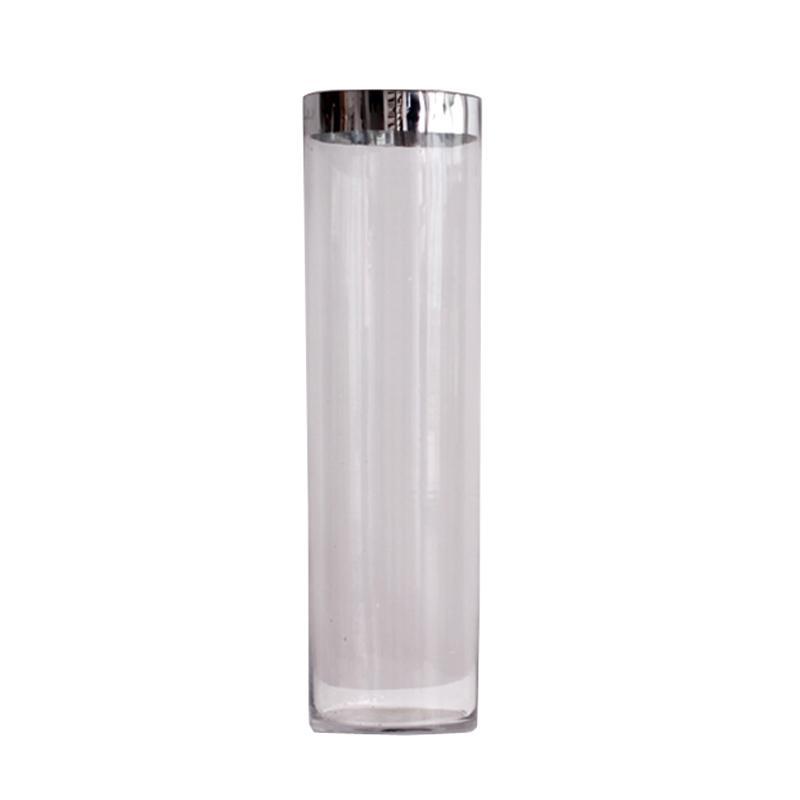 Thema Home 1701 Clear Glass Vas Bunga - Perak
