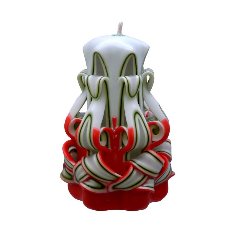 Indische Candle House Beatitudes Lilin Ukir [4 Inch] Handmade dan Organik Wax