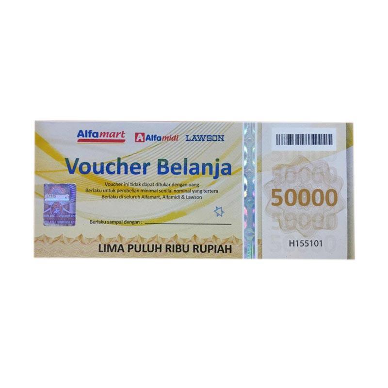 Alfamart 50k Voucher Fisik Belanja