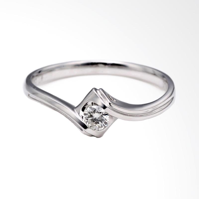 Tiaria Embrace Ring Perhiasan Cincin Tunangan Emas Berlian [18K]