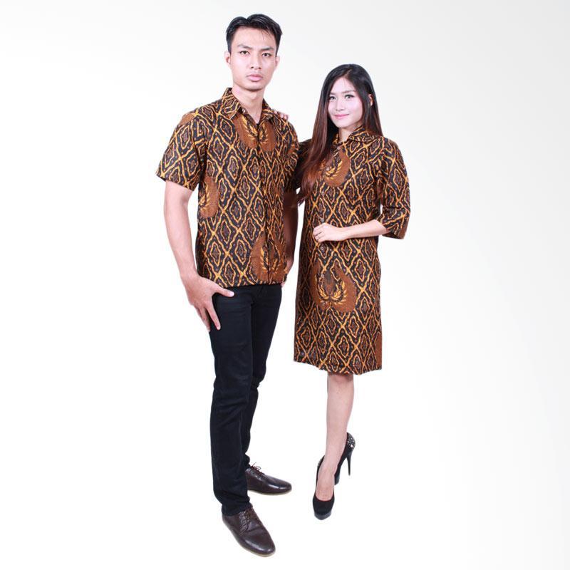 Batik Putri Ayu Solo SRD500 Batik Sarimbit Baju Batik Couple - Cokelat