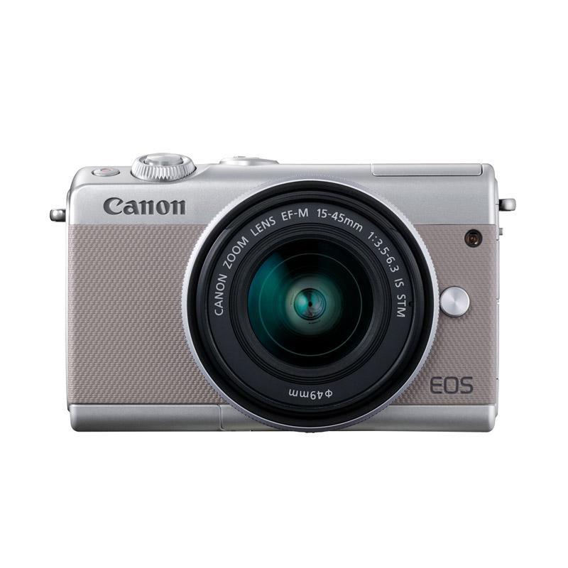 Canon EOS M100 Kamera DSLR with Lensa EF-M15-45mm - Grey