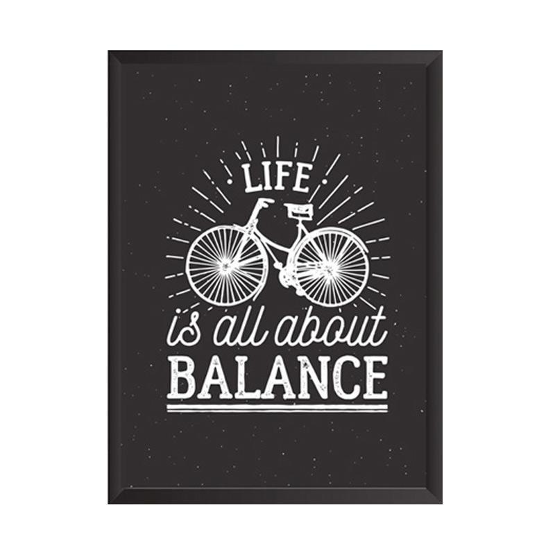 Cadrehome Life Is Balance 5R Dekorasi Dinding