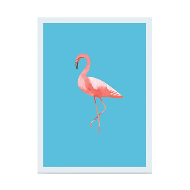 Cadrehome One Flamingo A4 Dekorasi Dinding