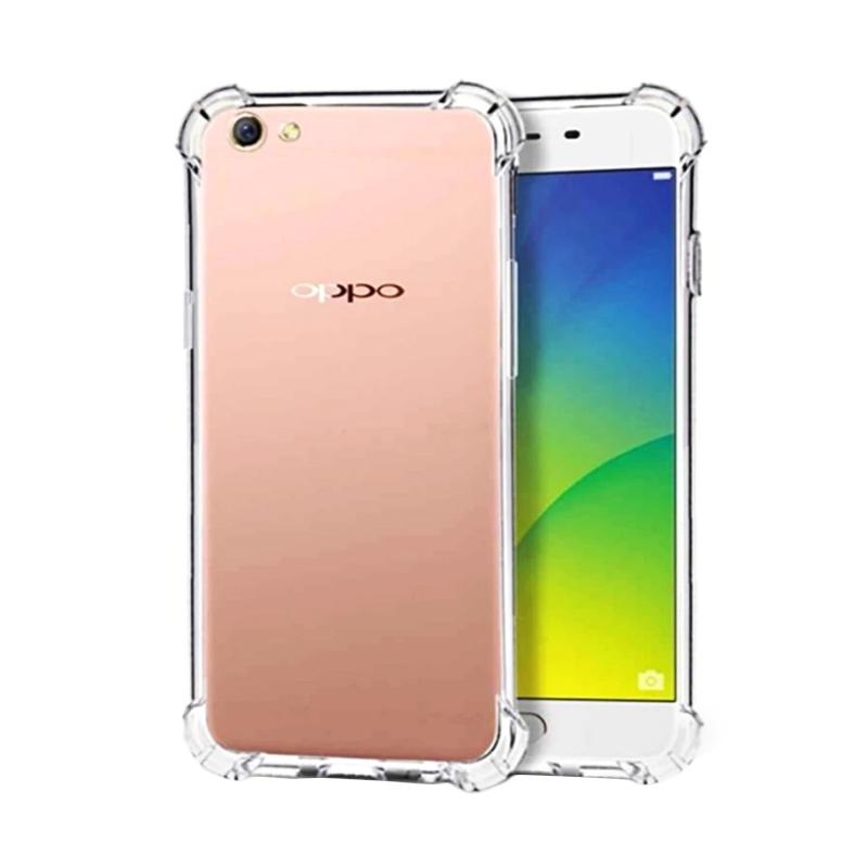 QCF BUY 1 GET 1 Case Anti Shock Anti Crack Oppo Silicone Ultrathin Casing for Oppo A71 - Transparan