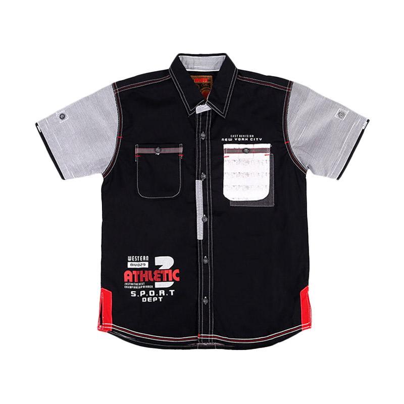 Woffi HK5-04-762 Sport Department Kemeja Anak - Hitam