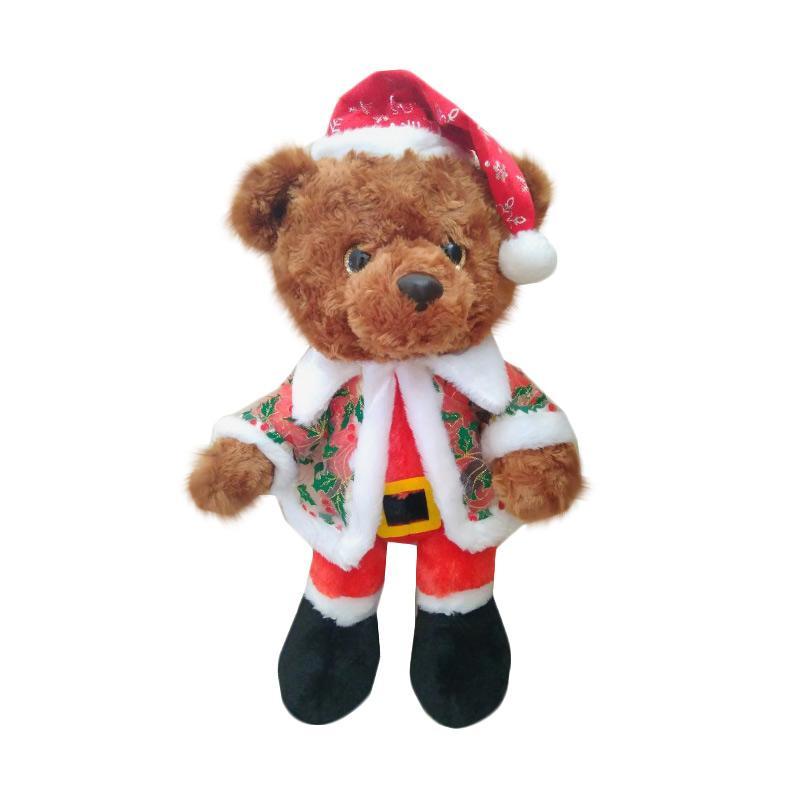 Istana kado IKO00879 Teddy Bear Baji Mantel Natal 19 Inch Christmas Boneka