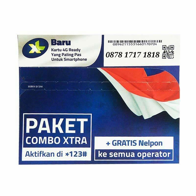XL Nomor Cantik Super Rapi 0878 1717 1818 Kartu Perdana [4G LTE]