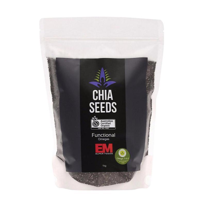 Chia Seeds Black Em Organik Mexico [1 kg]