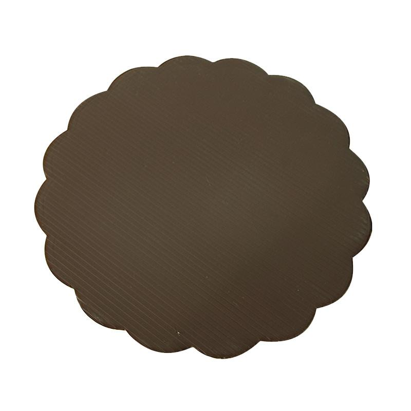 Titan Baking Bulat Tatakan Kue - Coklat [22 cm] isi 12 pcs