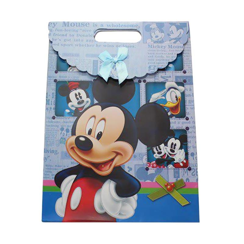 KUKUK PBG-CRTNM Kartun Mickey Paper Goodie Bag - Biru [Medium]
