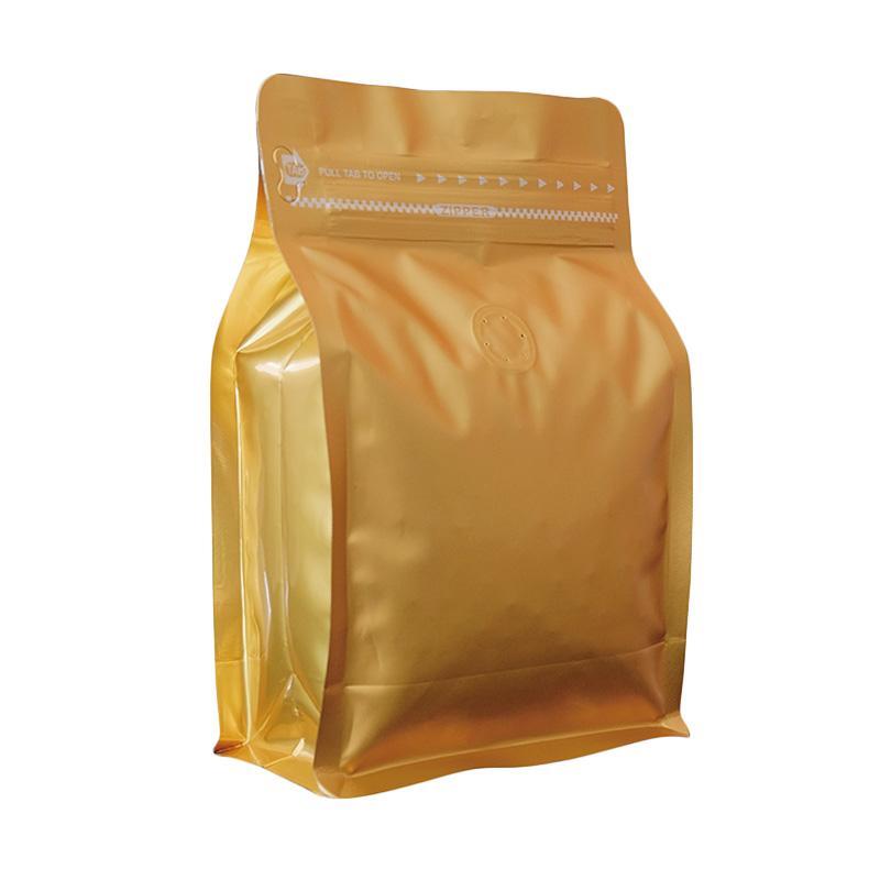 Worcas Coffee Bag Box Pouch with Zipper - Gold [250 g/ 10 pcs]