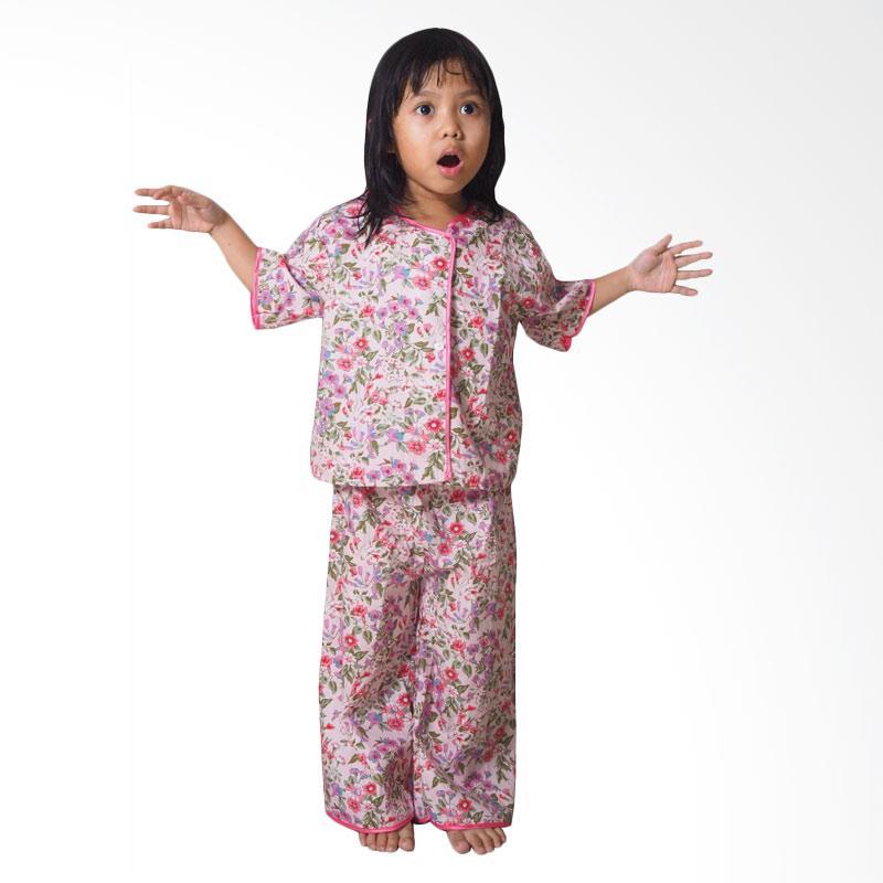Kirana Kids Wear Garden Piyama Anak - Pink Flower