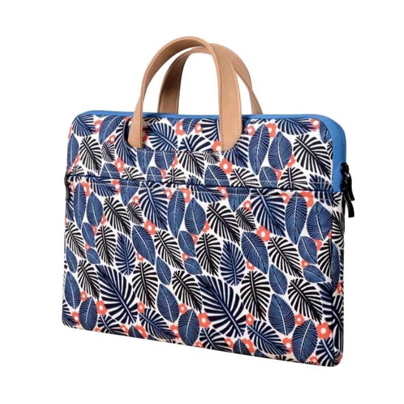 Cooltech Printed Leaves Softcase Macbook Tas Laptop [15 Inch]