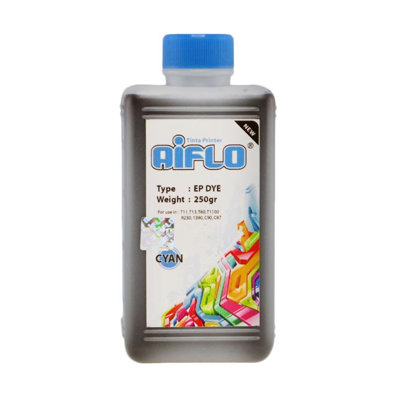 harga Aiflo Tinta Printer for Epson 1390/T60/T1100/T13/R230 - Cyan [250 mL] Blibli.com