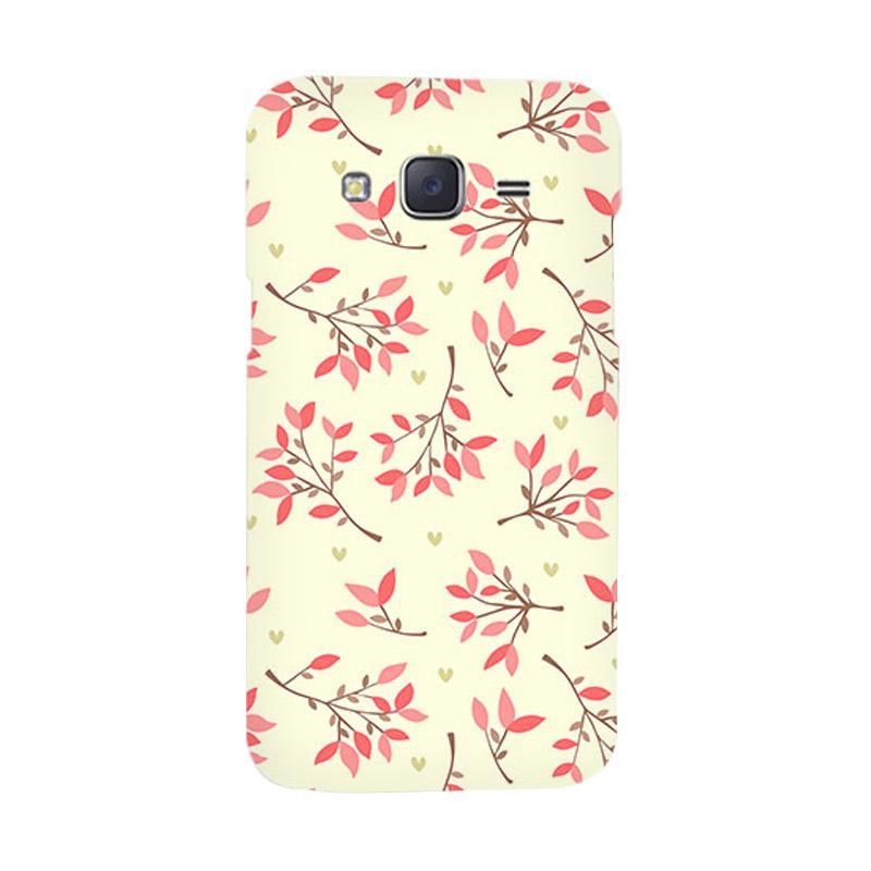 Premiumcaseid Cute Floral Seamless Shabby Hardcase Casing for Samsung Galaxy J5