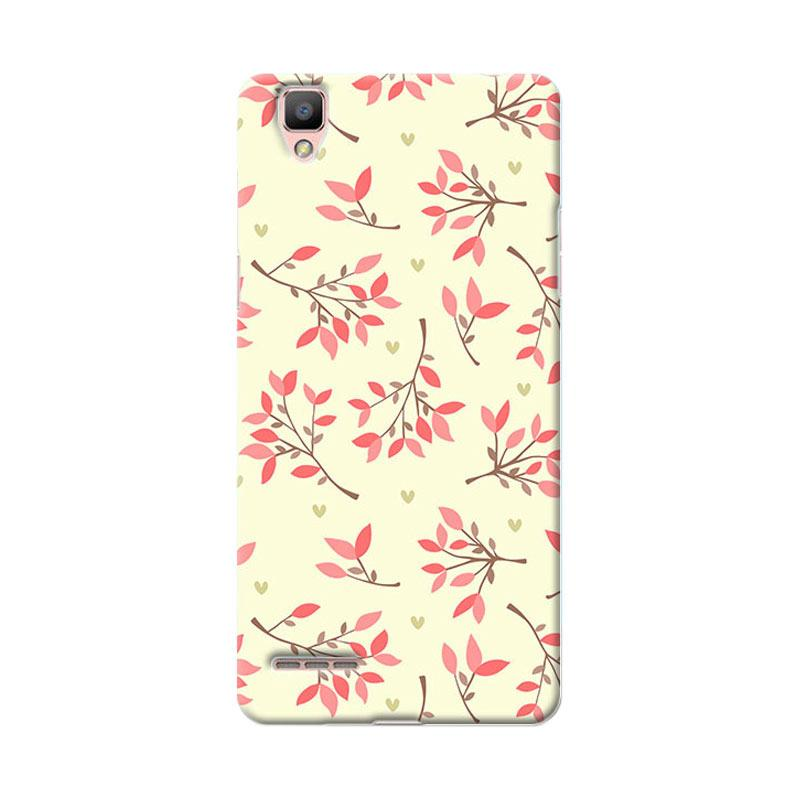 Premiumcaseid Cute Floral Seamless Shabby Cover Hardcase Casing for Oppo F1