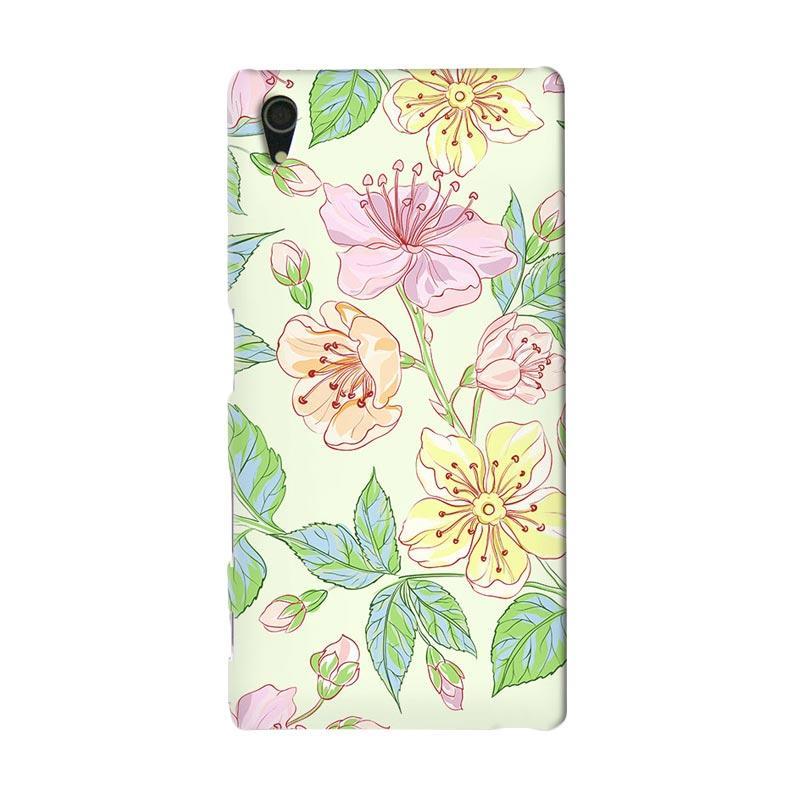 Premiumcaseid Beautiful Flower Wallpaper Hardcase Casing for Sony Xperia Z4
