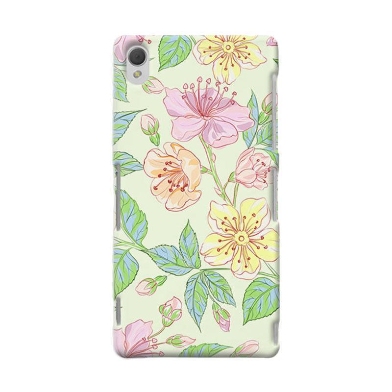 Premiumcaseid Beautiful Flower Wallpaper Hardcase Casing for Sony Xperia Z3