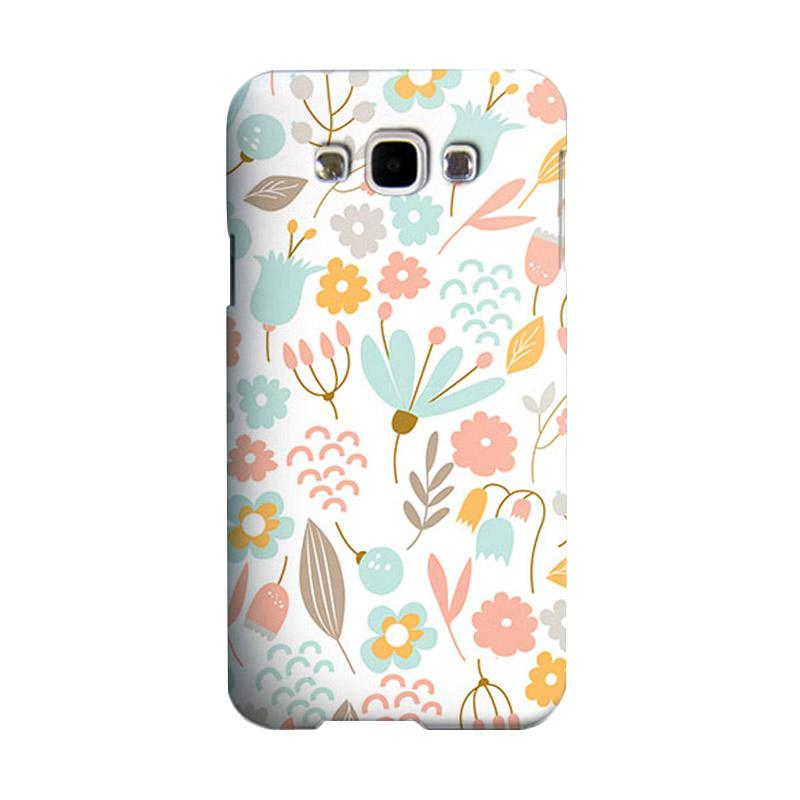 Premiumcaseid Cute Pastel Shabby Chic Floral Hardcase Casing for Samsung Galaxy E5