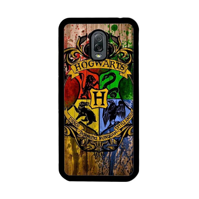 Flazzstore Harry Potter Hogwarts Logo Wood Z0295 Custom Casing for Samsung Galaxy J7 Plus