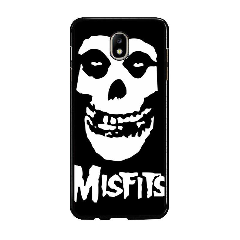 Flazzstore Horror Punk Rock Band Misfits Skull Z0506 Custom Casing for Samsung Galaxy J7 Pro 2017