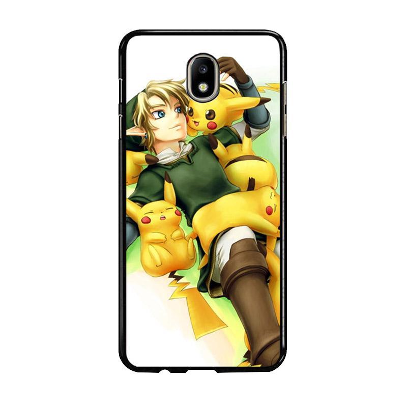 Flazzstore Zelda With Pikachu Pokemon Z1061 Custom Casing for Samsung Galaxy J7 Pro 2017