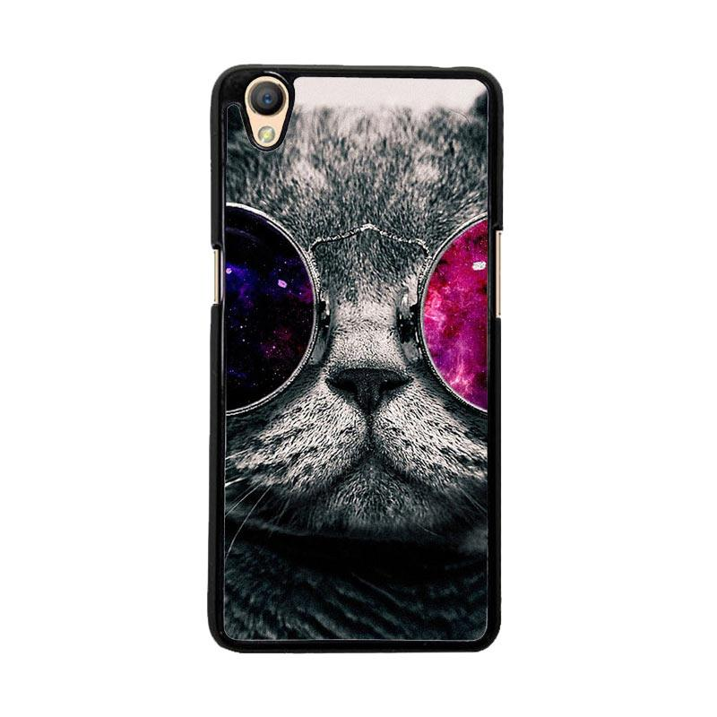 Flazzstore Cat Glasses O0167 Custom Casing for Oppo Neo 9 A37