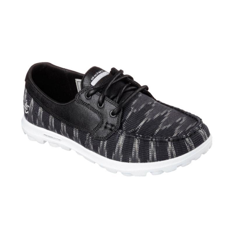 Skechers On The Go Boat Shoes Sepatu Olahraga Wanita - Black [13837BKW]