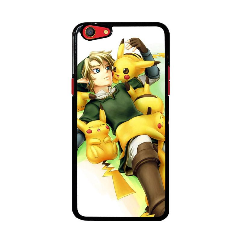 Flazzstore Zelda with Pikachu Pokemon Z1061 Custom Casing for Oppo F3