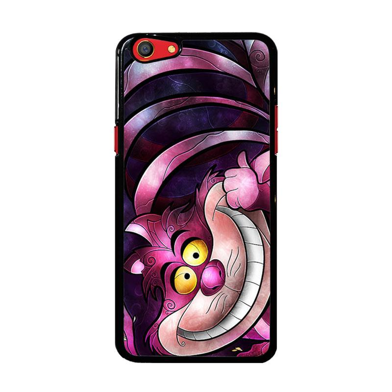 Flazzstore Disney Cheshire Cat Stained Glass Z1190 Custom Casing for Oppo F3